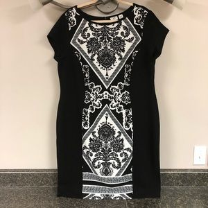 Cato black & white sheath dress 18/20w